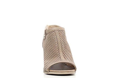 Nero Giardini sandalia talón del cuero Mujeres Artículo P615671D 406 taupe P6 15671 D