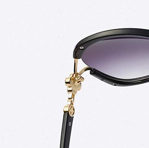 XINGUANG Gradual Film de Four para Leaf Clover Frame Mujer de Diamond Black Moda Black Gafas Sol OOBHZFr