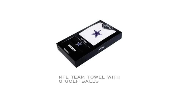 50372ef61 Amazon.com   Dallas Cowboys Callaway Golf Ball and Towel Gift Set   Sports    Outdoors