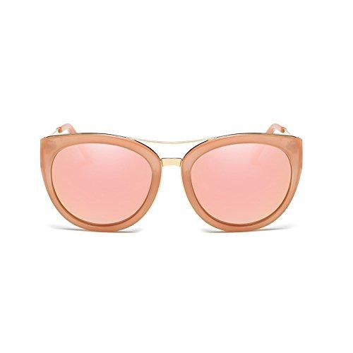 Net Powder Femme Bean Tea Box Polarisées Sunglasses De Lunettes Nouveau couleur Soleil Paragraphe Extérieur Rétro Rouge Avec Conduite Dames Miroir Le dZRBSq