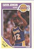 1989-90 Fleer Magic Johnson Basketball Card #77 - Shipped In Protective Display Case!