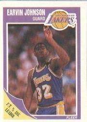 1989-90 Fleer Magic Johnson Basketball Card #77 - Shipped In Protective Display Case!