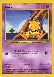 Abra - 43/102 - Common - Unlimited Edition - Base Set