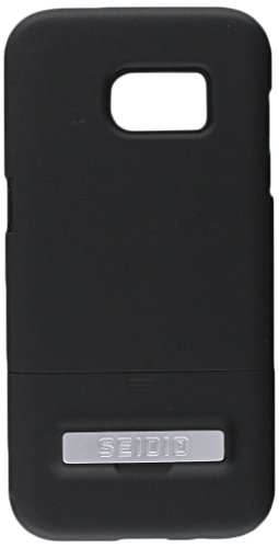 Seidio SURFACE with Metal Kickstand Case for the Samsung S7 Edge [Slim Case] - Non-Retail Packaging - Black/Black