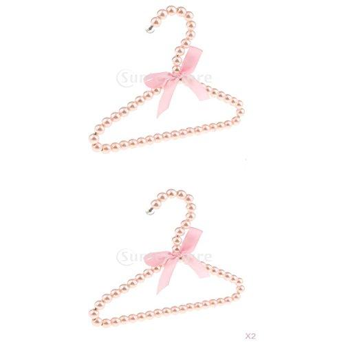 Homyl 2 st/ück Kinderkleiderb/ügel Kunststoff Kleiderb/ügel Perlen W/äscheb/ügel mit Bowknot Dekor