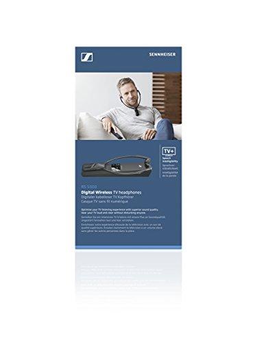 Sennheiser RS 5000 - Auriculares inalámbricos de TV Digital, Alcance de 70 Metros, Color Negro