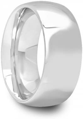 8 mm Mens Tungsten Carbide Rings Wedding Bands Round Style