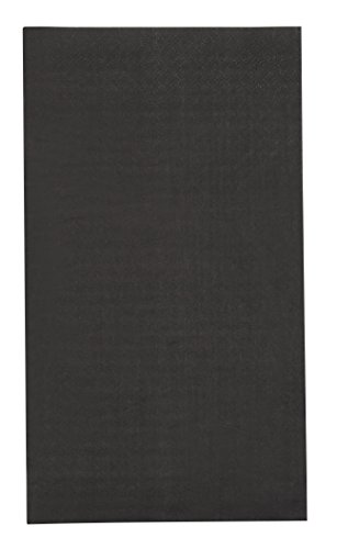 Paper Dinner Napkins - 120-Pack Disposable Napkins, 2-Ply Absorbent Napkins for Everyday Kitchen, Dining, Events, Parties, Black, Unfolded 15.5 x 13 Inches, Folded 7.5 x 4.25 Inches