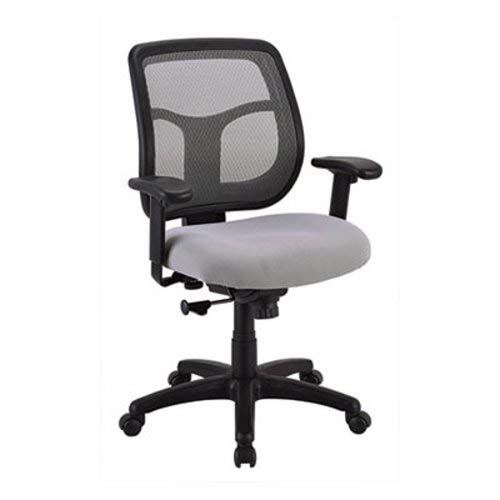 Eurotech MT9400SR Apollo Mid-Back Mesh Chair, Silver Seat/Silver Back