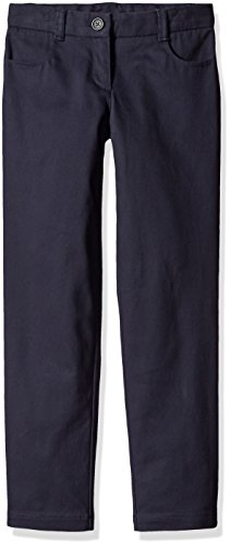 (Dockers Little Girls' Uniform Skinny Pant, Navy, 6X)