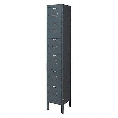 Edsal CL5141GY Citadel Traditional Multi-Tier Locker, Unassembled, Powder Coated Finish, One Wide 6 Opening, 12
