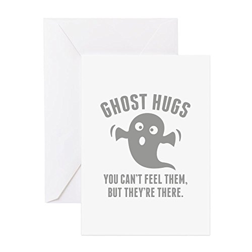 CafePress Ghost Hugs Greeting Card, Note Card, Birthday Card, Blank Inside Matte -