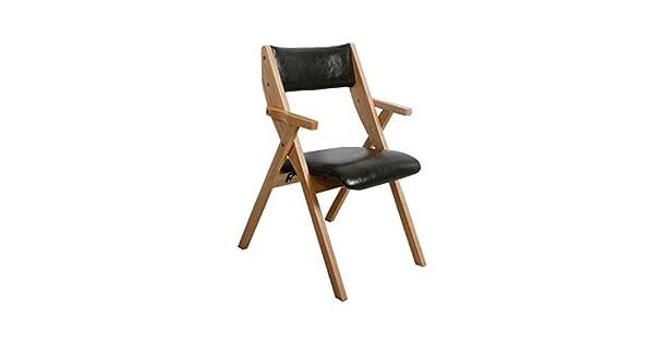 Amazon.com: LLYU Silla plegable de madera maciza ...