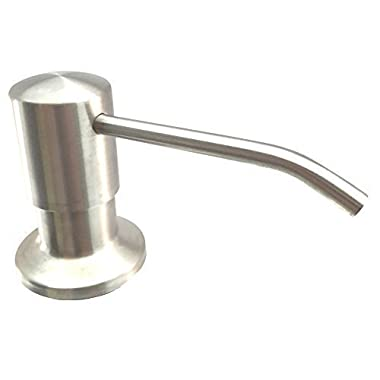 Ultimate Kitchen™ - Best Stainless Steel Sink Soap Dispenser (Satin) - Large Capacity 17 OZ Bottle - 3.15 Inch Threaded Tube for Thick Deck Installation - WARRANTY: This product comes with a 5-year replacement warranty only from seller: Kitchen-Classics.