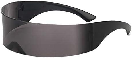 Macxy - Divertida futurista Wrap Around MonoB Gafas de Sol Gafas ...
