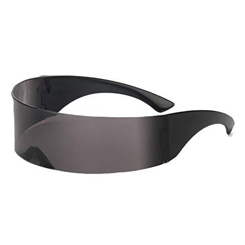 Funny Futuristic Wrap Around Monob Costume Sunglasses Mask