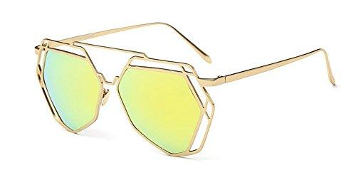 cercle polarisées du en style lunettes Mercure retro Jaune vintage soleil Lennon inspirées rond métallique de pRvWZqU