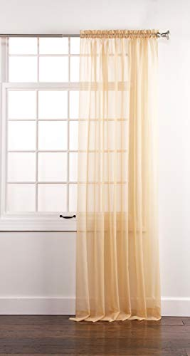 "Stylemaster Sheer Voile  Elegance 60"" X 95"", Panel Gold"