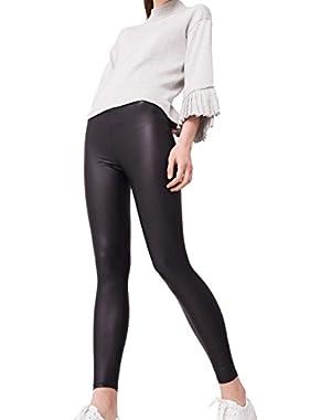 Mango Women's Glossed-Effect Leggings