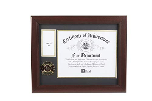 Allied Frame US Firefighter Medal and Award Certificate Frame - 8 x 10 Opening