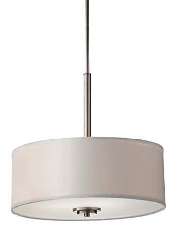 Feiss F2771/3BS Kincaid 3 - Light Pendant in Brushed Steel by Murray Feiss