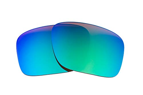 LenzFlip Lenses Compatible with Oakley Holbrook XL - Brown with Green ()