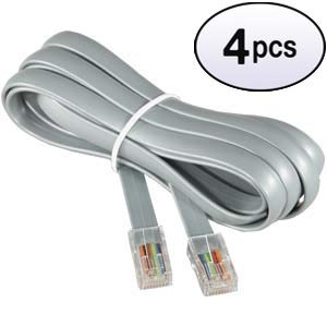 GOWOS (4 Pack) 14Ft RJ45 Modular Cable Straight ()