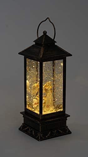 Angel Lighted Christmas Water Snow Globe White Dove Glitter Snow Lantern