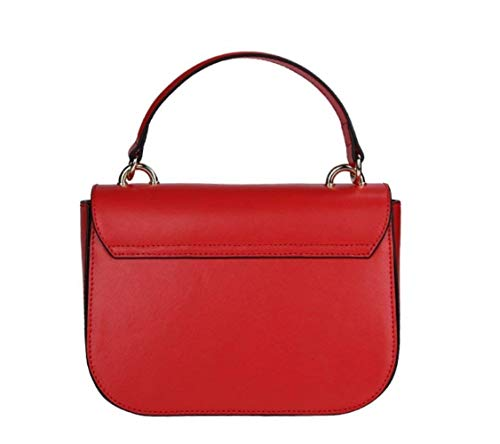 in Rosso Dimensione patta con tracolla Messenger pelle Moontang Borsa Rosso Colore vacchetta rosso di a YC6Aq