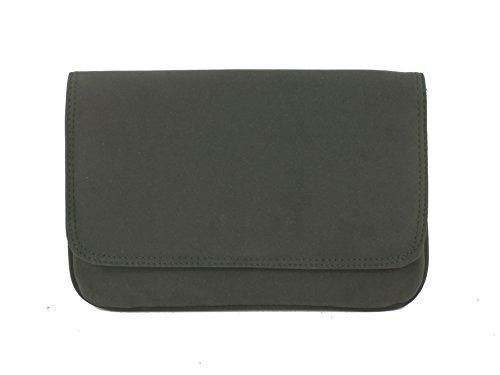 LONI instrucciones Faux Snake Skin Clutch Bag Gris - gris