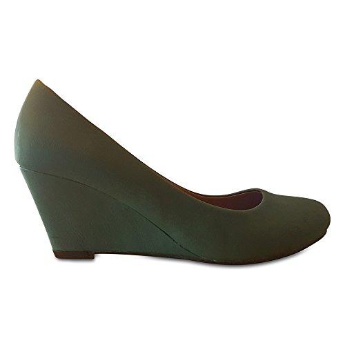 Compensées Eméraude Super Mode Sandales Femme 8xxF4g