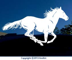Horse Decals Running - AmiArt Running Horse Decal- Extra X Large 11.6