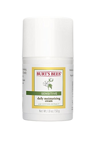 Burt's Bees Sensitive Skin Daily Moisturizing Cream with Cotton Extract, 1.8-Ounce