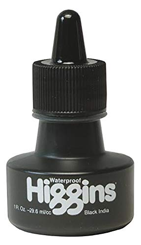 Higgins Waterproof Black India Ink 1 oz.