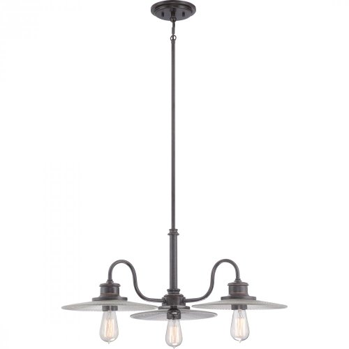Quoizel ADM5103IB Admiral with Imperial Bronze Finish,  Dinette Chandelier and 3 Lights,  Brown