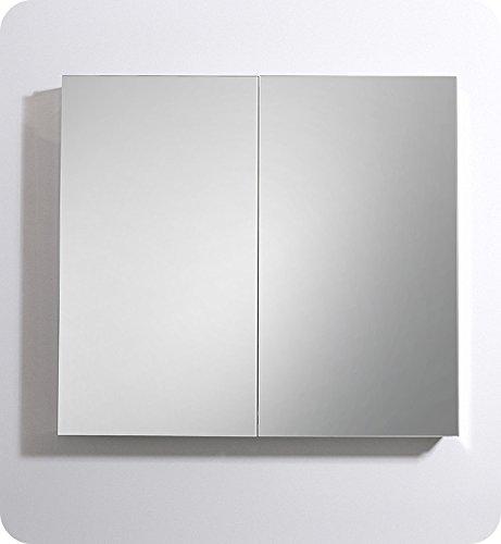 Fresca 40'' Wide x 36'' Tall Bathroom Medicine Cabinet w/ Mirrors