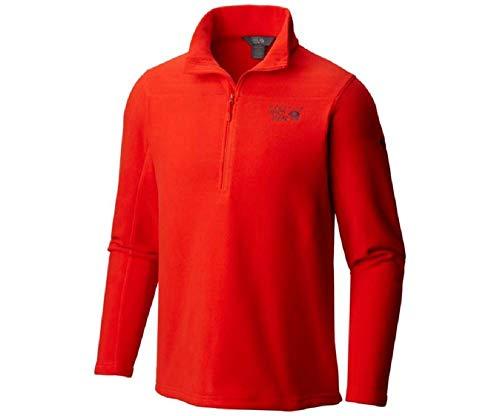 Mountain Hardwear Men's Microchill 2.0 Zip T Fiery Red Medium