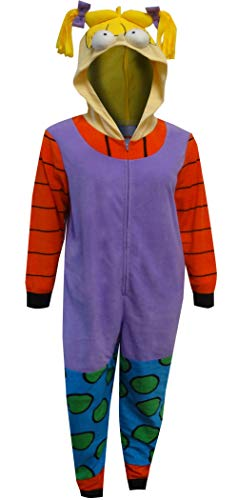 Nickelodeon Women's Rugrats Angelica Union Suit, Purple, Medium ()