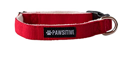 Pawsitive Pet Hemp Dog Collar - We Donate a Collar for Every Collar Sold. Help a shelter in Need! Solid Color Adjustable Collar Great for Small, Medium and Large Dogs ()