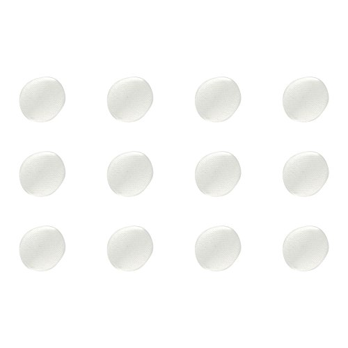 ButtonMode BU162DIV Fabric Covered Satin Trim Buttons, Metal Shank Back, Ivory, 10mm 12-Pack (Wedding Button)