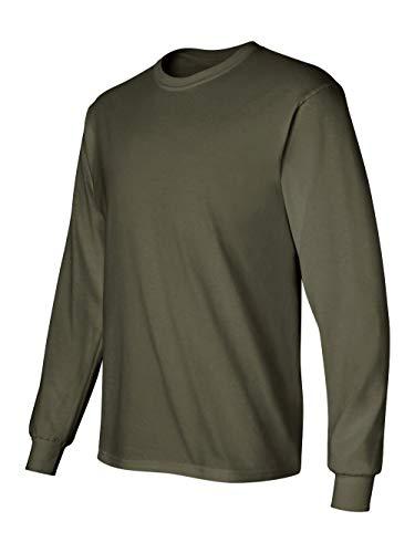 Gildan Men's Ultra Cotton Long-Sleeve T-Shirt Military Green