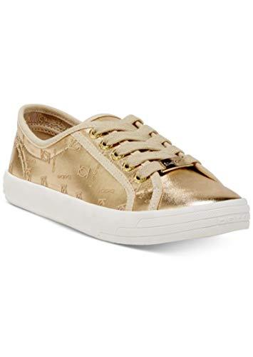 (Bebe Sport DANE LACE-UP Sneakers Gold Faux 9M)