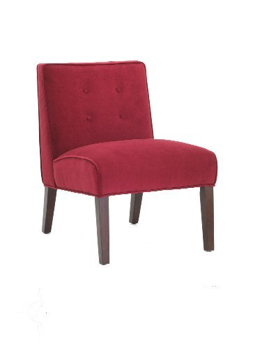 Delicieux Madera Armless Accent Chair   Red