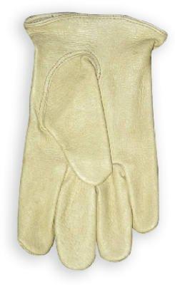 Wells Lamont Work Gloves with Grain Pigskin, Keystone Thumb, Leather Bound