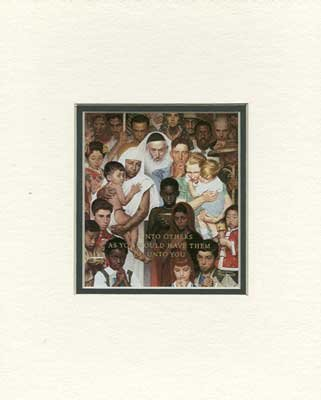 Norman Rockwell - Golden Rule NO LONGER IN PRINT - LAST ONES!!