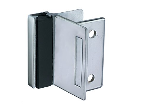 Harris Hardware TP5110-I Strike & Keeper Die Cast Zamac Chrome Plated Square Edge Partition with 1-1/4