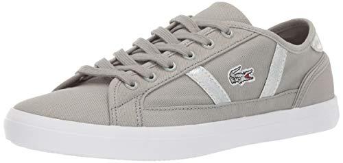 Lacoste Women's Sideline Sneaker, Light Grey/White, 7.5 Medium US from Lacoste