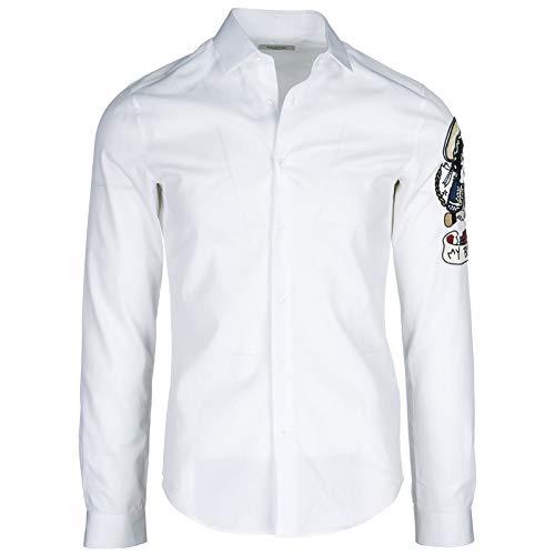 Valentino Men Shirt Bianco 14 1/2 inch
