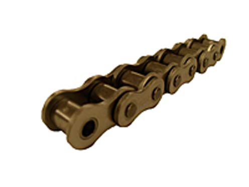 - Standard Roller Chain - 40SS / 1/2 in Pitch, Riveted, 1 Strand, 304 Stainless Steel Material, 100 ft Length (Feet of2)