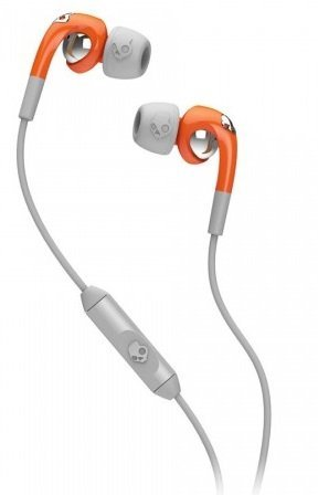 Skullcandy Fix Ear Bud with Mic1+ Remote - Retail Packaging - Orange/Gray